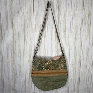 Sakroots crossbody bag green and tan